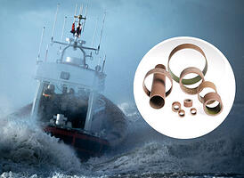 Composite CJ bearings resists corrosion and moisture