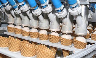 Plastic Bearings Increase Production of Ice Cream