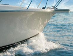 Bow plane bearings reduce wake generation