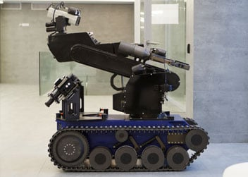 Robotic Tracked Vehicles are Powered by Composite Bearings