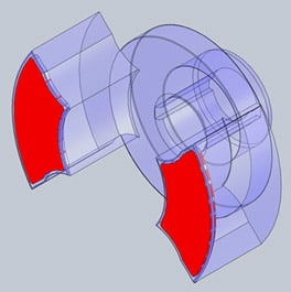 PEEK rotary pump insert