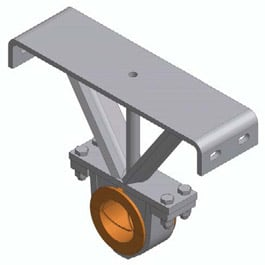Screw conveyor hanger bearing