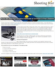 Rulon W2 Bearings Outpace Chemicals & Corrosion in Pool Cleaners
