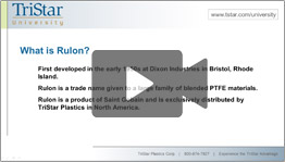 TriStar Univerity -Rulon Materials Video