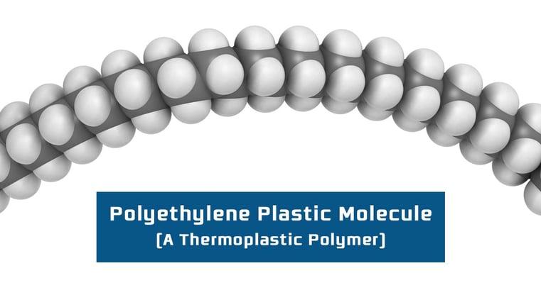 Polyethylene Plastic Molecule - A Thermoplastic