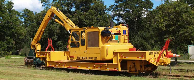 Railroad track maintenance equipment